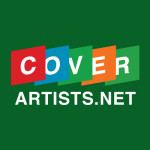Overlapping album covers used to represent Cover Artists logo