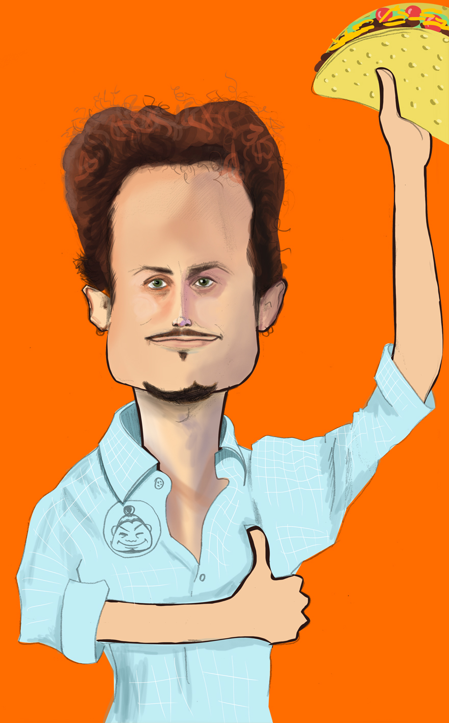 Noah Kagan Caricature
