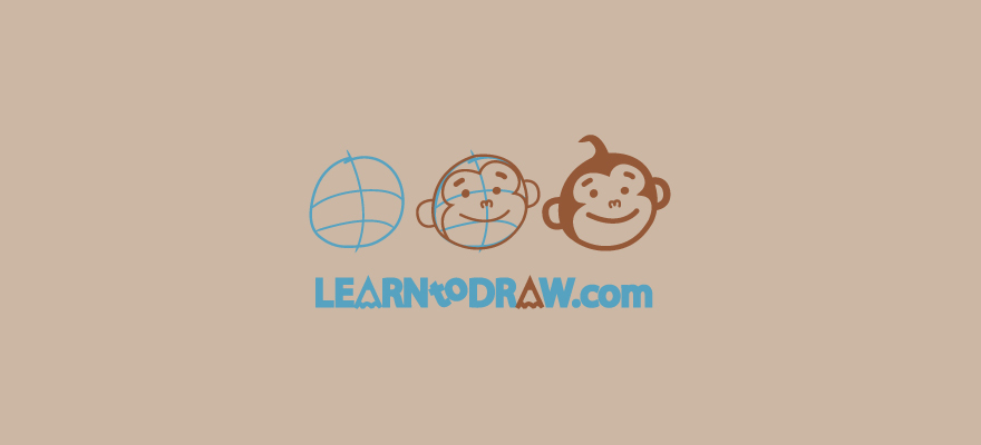 Step by step drawing of a monkey